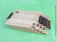 Set of 4 thin planks for cocktail snacks by atelierunikart