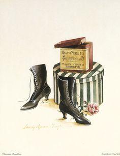 Mis Laminas para Decoupage   Aprender manualidades es facilisimo.com Images Vintage, Vintage Tags, Vintage Photographs, Victorian Boots, Decoupage Vintage, Decoupage Art, Bullet Journal Art, Shoe Art, Vintage Shoes