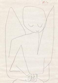 amare-habeo:  Paul Klee - Forgetful Angel (Vergesslicher Engel),...
