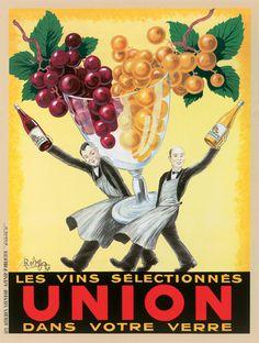 Les Vins Selectionnes Union; Giclee Cotton Art Print http://www.enjoyart.com/single_posters/champagne_wine/les_vins_selectionnes_5sizes.htm