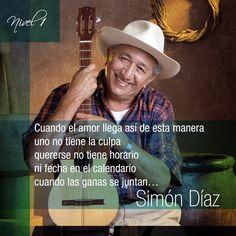"""Simón Díaz, ícono de la venezolanidad, es también uno de los compositores populares más valiosos y universales de América Latina, convirtiéndose así en una referencia obligada y pieza indiscutible de la historia de la música popular, tanto en Venezuela como en el resto del mundo.Conocido internacionalmente por ser el autor de """"Caballo viejo"""" . Comunicaciones Nivel1"""
