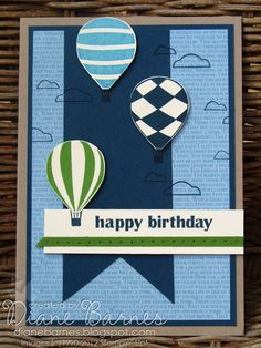 colour me happy: stampin Up Up Up  Away for the boys masculine card