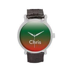 Chrismas Colors Vintage Watch