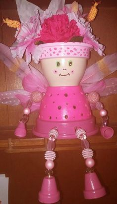 Fairy Princess clay pot night light by MaineDownHomeCrafter Clay Pot Projects, Clay Pot Crafts, Diy Clay, Diy Craft Projects, Diy Crafts, Flower Pot Art, Clay Flower Pots, Flower Pot Crafts, Flower Pot People