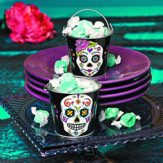 These little buckets are a unique way to give Day of the Dead party favors or to decorate with.