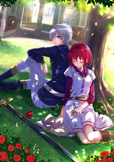 Akagami no Shirayuki-hime - Snow White with the Red Hair - Zen and Shirayuki// started watching it watching it yesterday night and I legit forgot how cute and good this anime is Anime Love, Kawaii Anime, Manga Anime, Anime Snow, Beaux Couples, Snow White With The Red Hair, White Hair, Pink Hair, Akagami No Shirayukihime