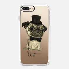 Casetify iPhone 7 Classic Grip Case - Gentle Pug by Barruf #Casetify