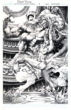 Anacleto Dejah thoris and the Green Men of Mars 9 cover Comic Art
