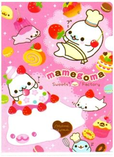 San-x Mamegoma Sweets Factory Plastic File Folder http://shop.kawaiidepot.com/File-Folders_c53.htm