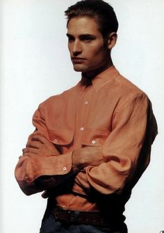 Photo of Josh holloway model- 1992 for fans of Josh Holloway. Joshua Lee, Josh Holloway, Number Two, Strike A Pose, Supermodels, Bomber Jacket, Poses, Mens Fashion, Actors