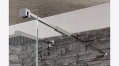 "MWE Glass to Wall telescoping stabilizing arm (minimum distance ½"") maximum ¼"") – Connection at Modern Shower Accessories, Custom Shower, Shower Doors, Wind Turbine, Ladder, Distance, Connection, Arm, Hardware"