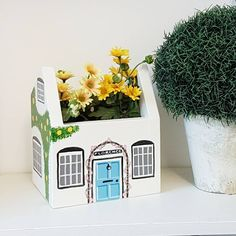 Are you interested in our Personalised Cottage planter gift? With our cottage house planter indoor gift you need look no further.