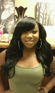 Love this photo! Jadah Bloom Sew ins and Extensions rocks it!