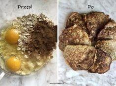 Naleśniki owsiane – 4 składniki Baked Potato, Good Food, Food And Drink, Pizza, Eggs, Baking, Breakfast, Cake, Ethnic Recipes