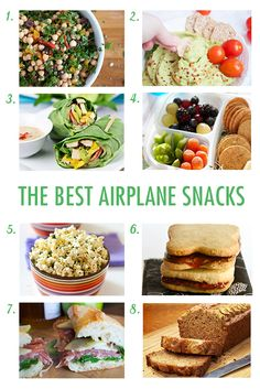 Airplane food is terrible. We pulled together the best snack ideas and recipes for yummy, travel-friendly food for every diet (and every age!). #travel