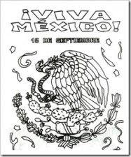 15 de septiembre  viva mexico 1  Pinterest  Colorear Mxico y