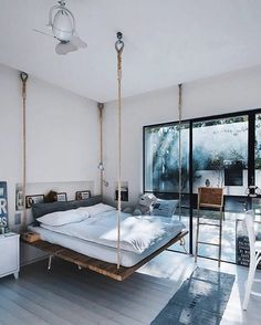 Duplex Inspiration // Arch Buzzer The Perfect Scandinavian Style Home - Diy furniture beds Girl Bedroom Designs, Room Ideas Bedroom, Home Decor Bedroom, Loft Interior Design, Loft Design, Wood Bed Design, Scandinavian Style Home, Aesthetic Room Decor, Suites
