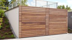 Contemporary Wood Garage Doors Dallas Fort Worth