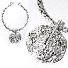 SG Paris Choker Antic Silver Argente Necklace Choker Metal Summer Women Ethno Glam Fashion Jewelry / Hair Accessories Circle $9.28