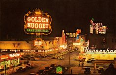 Vintage Photo of Las Vegas in the 1950