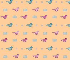 Colourful Ponies fabric by coffee_makes_me_smile on Spoonflower - custom fabric