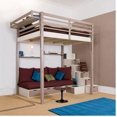 Un lit escamotable en mezzanine