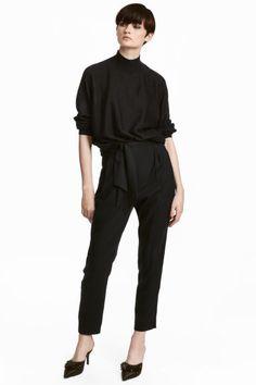 Broek - Loose fit - Zwart - DAMES | H&M NL 1