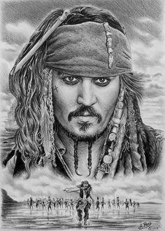 Captain Jack Sparrow Art Print by Andrew Read Jack Sparrow Drawing, Jack Sparrow Tattoos, Sparrow Art, Captain Jack Sparrow, Jack Sparrow Character, Jack Sparrow Wallpaper, Pirate Art, Johny Depp, Celebrity Drawings