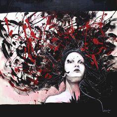 La ragazza coi capelli al vento by KlarEm.deviantart.com on @deviantART