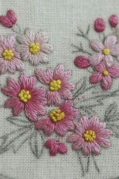 Marvelous Crewel Embroidery Long Short Soft Shading In Colors Ideas. Enchanting Crewel Embroidery Long Short Soft Shading In Colors Ideas. Herb Embroidery, Hand Embroidery Projects, Hand Embroidery Videos, Embroidery Works, Silk Ribbon Embroidery, Hand Embroidery Patterns, Embroidery Techniques, Embroidery Stitches, Bordado Floral