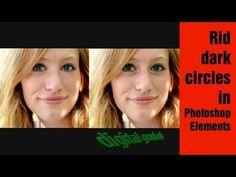 Learn Photoshop Elements - Getting rid of dark circles under the eye