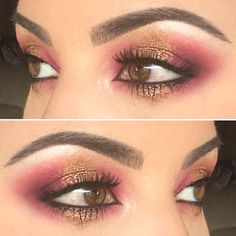 Pretty look by @oodrea using the @mannymua733 x @makeupgeekcosmetics  and @stilacosmetics