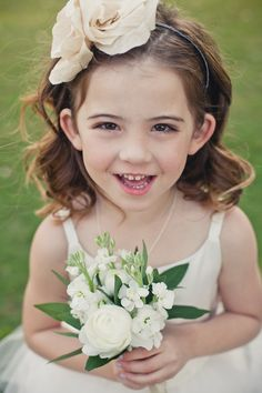 Love this headband for a flower girl... @Kelly Teske Goldsworthy Teske Goldsworthy, what do you think???