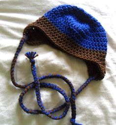 Made to Order Simple Ear Flap Baby Hat - 0-12 months - Perfect for Photo Prop