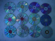 Mandalas de de CD com tinta relevo.