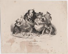 Beggars in repose [graphic] / Phillips delt. Published/Created: [London] : Published by Chas. Tilt, 86 Fleet St., [1850] Physical Description: 1 print : lithograph on wove paper ; sheet 250 x 314 mm. Variant Titles: Cat and dog life, pl. 2