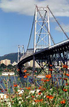 Ponte Hercílio Luz Florianópolis, Santa Catarina -  Brasil #floripa #ilhadamagia #brazil