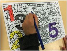 French Class, Montessori, Alphabet, Activities, Education, School, Kindergarten Classroom, Writing Numbers, Mathematics