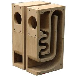 Wood maze speaker empty maze box full-range hifi3 full-range diy4 6.5