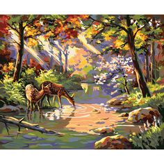 """Plaid:Craft Paint By Number Kit 16""""X20""""-Do Ray Me Creek"""