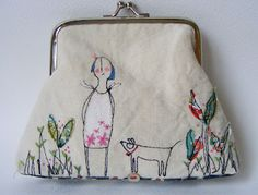 Embroidered purse - another absolutely lovely hensteeth piece ....wow she's talented!