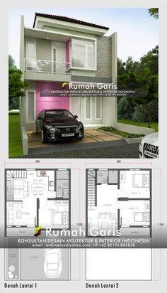 Home Small Plan Layout 54 New Ideas Duplex House Plans, Dream House Plans, Modern House Plans, Small House Plans, House Floor Plans, Narrow House Designs, Small House Design, Modern House Design, The Plan