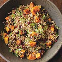 Making this for Thanksgiving side: Farro & Roasted Squash Pilaf #recipe by @rachaelraymag #vegan