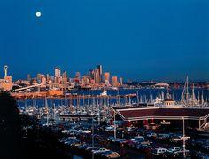 Palisade restaurant at the Elliott Bay harbor on Puget Sound, Seattle, WA.