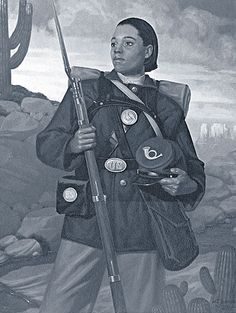 Cathay Williams was born in 1844, in Independence Missouri. She was the first African American female to enlist, serving in the United States Army under the pseudonym William Cathay. Williams was one of the Buffalo Soldiers for three years, passing herself off as a man to all but her cousin and a friend, both of whom were fellow soldiers in her regiment. Williams lived through smallpox, and several other illnesses and hospital visits without her true identity being discovered. Only until she had