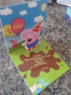 Convite George Pig 3D Pop Up - Faça você mesma                                                                                                                                                                                 Mais