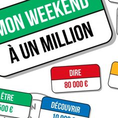 Poster jeu : mon weekend à un million