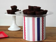 Make a cake stand from a coffee can - awesome budget craft!