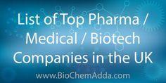 List of Top Pharma / Medical / Biotech Companies in the United Kingdom