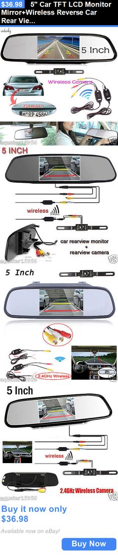 Rear View Monitors Cams and Kits: 5 Car Tft Lcd Monitor Mirror+Wireless Reverse Car Rear View Backup Camera Kit BUY IT NOW ONLY: $36.98